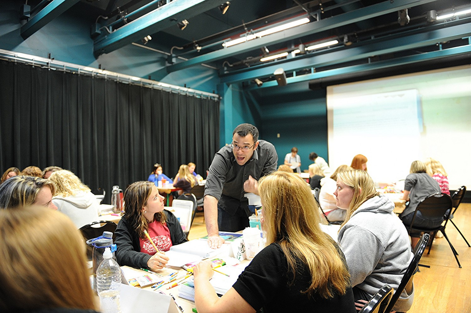 Cameron Hill, assistant professor of mathematics, taught an Intel Math course to area teachers as part of the Green Street Teaching and Learning Center's K-8 Math Institute. The Department of Education recently awarded GSTLC with a grant to expand its program and reach 90 teachers from three new school districts.