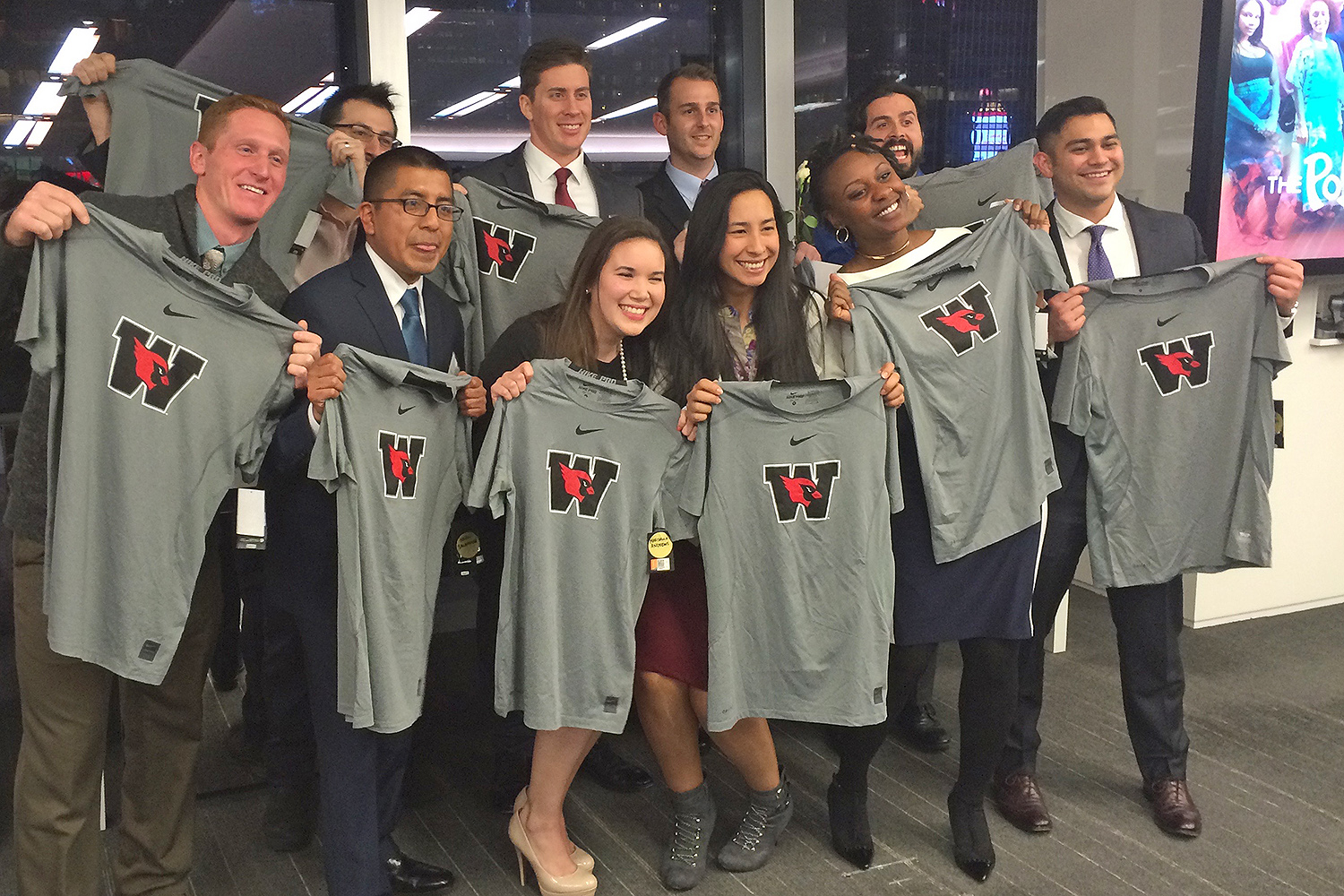 Wesleyan's newest group of Posse Veteran Scholars. Back row, from left: Gregory Hardy, Andrew Daggon, Zachary Patterson, Daniel Rodriguez. Front row, from left: Lance Williams, Noel Salvador, Marisella Andrews, Rebecca Martinez, Gabrielle Hurlock, Mitchell Motlagh.