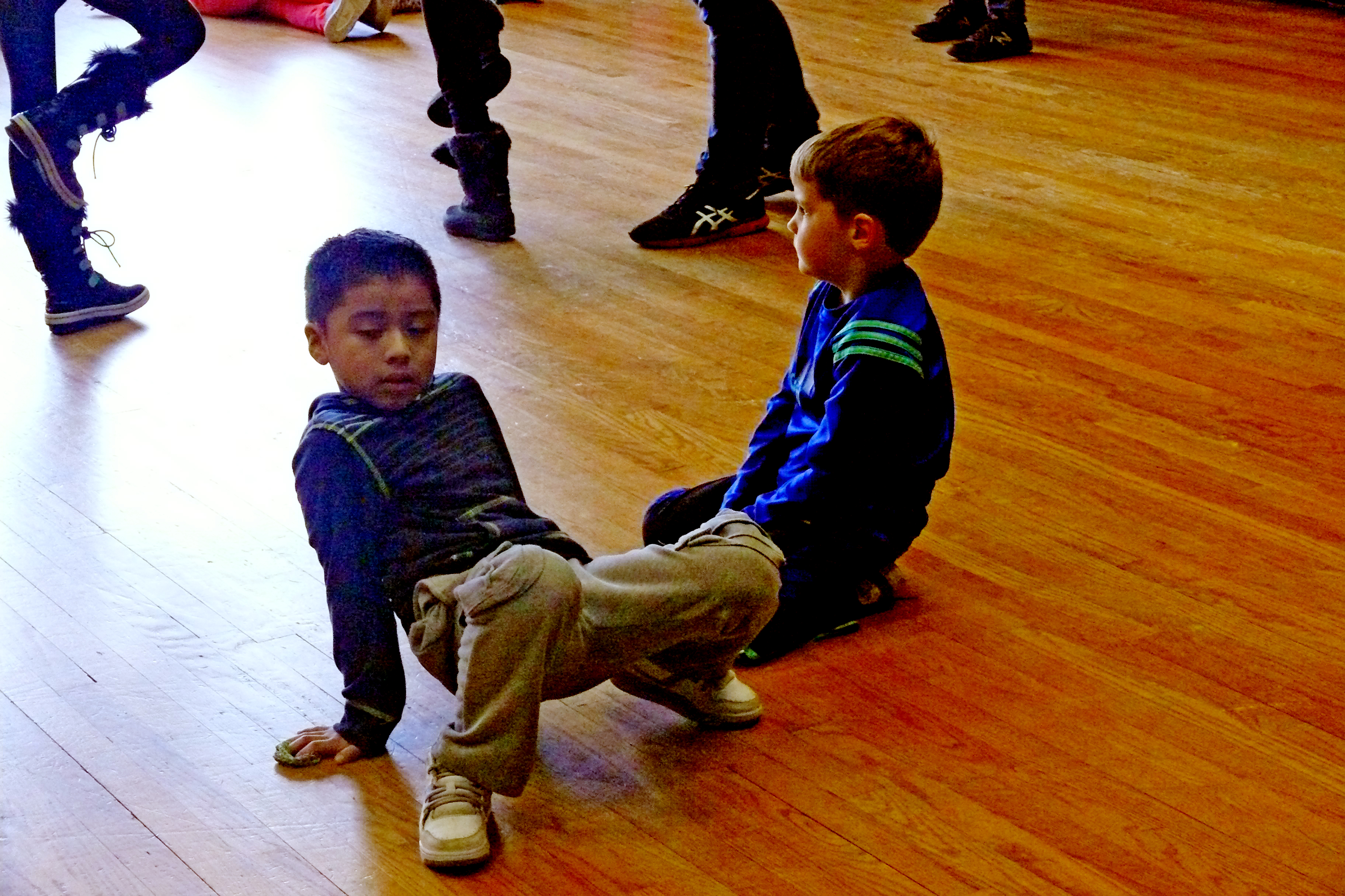 Yadel and William participate in the workshop.