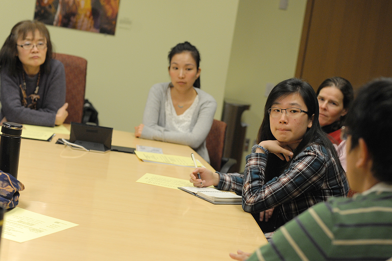 Following the faculty talks, students participated in group breakout sessions led by student facilitators.