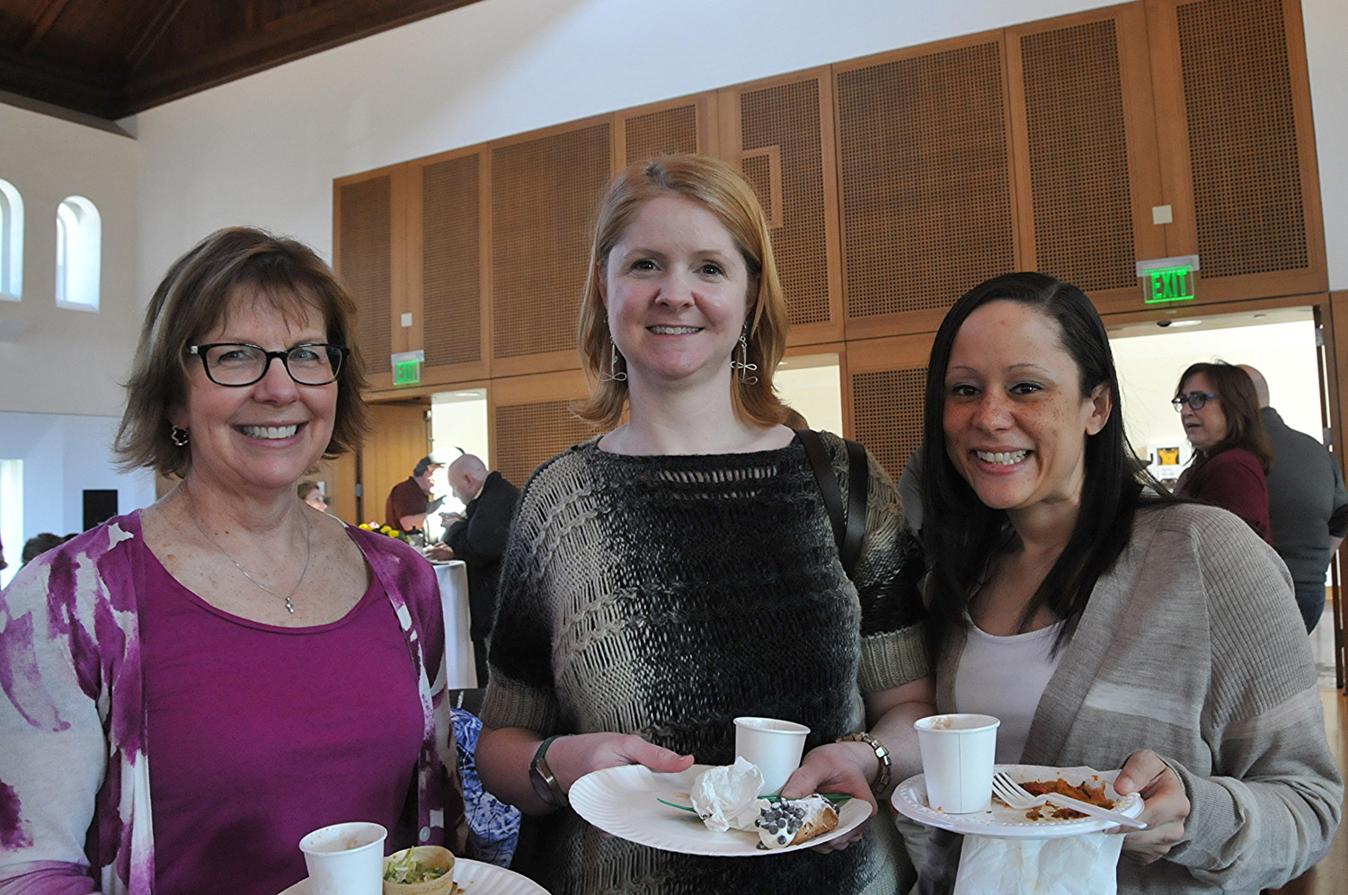 Maureen Zimmer, academic affairs coordinator, Megan Flagg, executive assistant to the provost and vice president for academic affairs, and Lisa Sacks, assistant director for curricular initiatives.