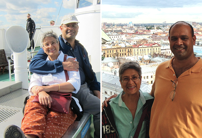 In 2015, Manju Hingorani and her husband of 19 years, Anish Konkar, met up in Helsinki after Hingorani attended a conference in Oslo held in honor of this year's Nobel laureate Tomas Lindahl. They then traveled to St. Petersburg, Russia, and Tallinn, Estonia.