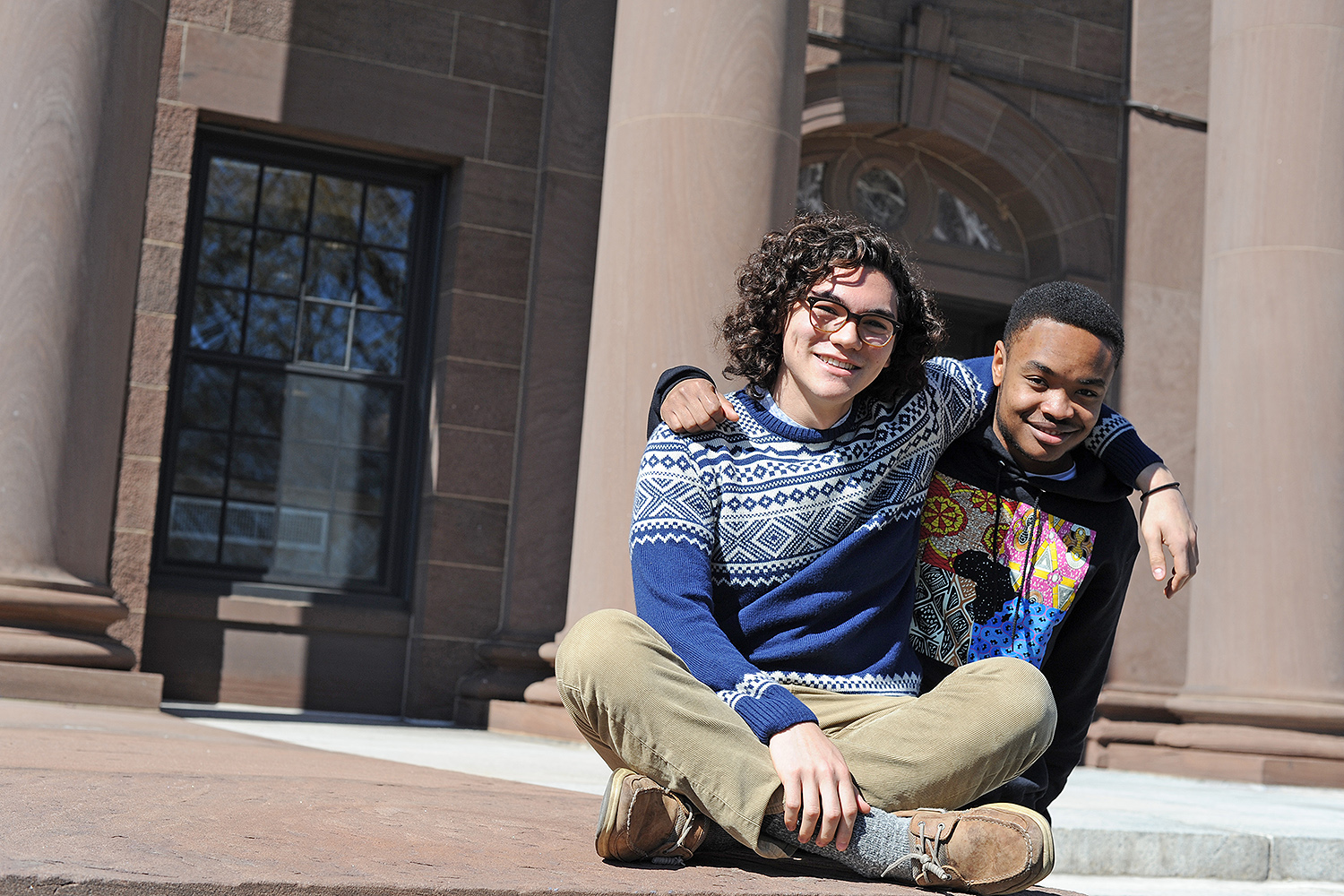Noah Hamlish '16 and Chando Mapoma '16 are 2016 Watson Fellowship recipients. (Photo by Olivia Drake)