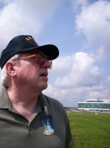 As a science fiction writer of some renown, Jack McDevitt MALS '71 was invited to NASA to watch a rocket launch—which he is anticipating in this photograph.