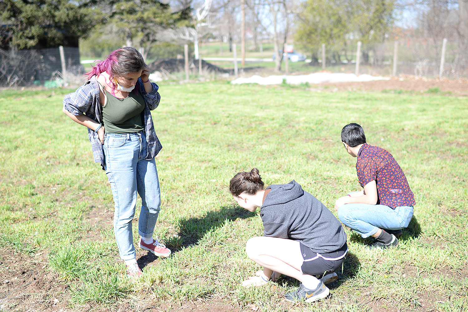 Admitted students had the opportunity to tour the Long Lane Organic Farm and dig for scallions.