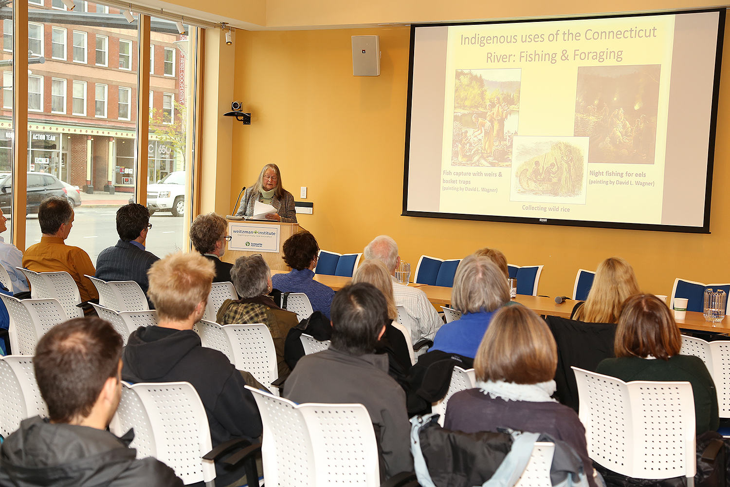 "On April 26, the College of the Environment hosted a discussion on ""Middletown/Mattabesset and the Connecticut River: Past, Present and Future"" in the Community Health Center in Middletown. Several Wesleyan staff and faculty attended, along with members of the Middletown community."