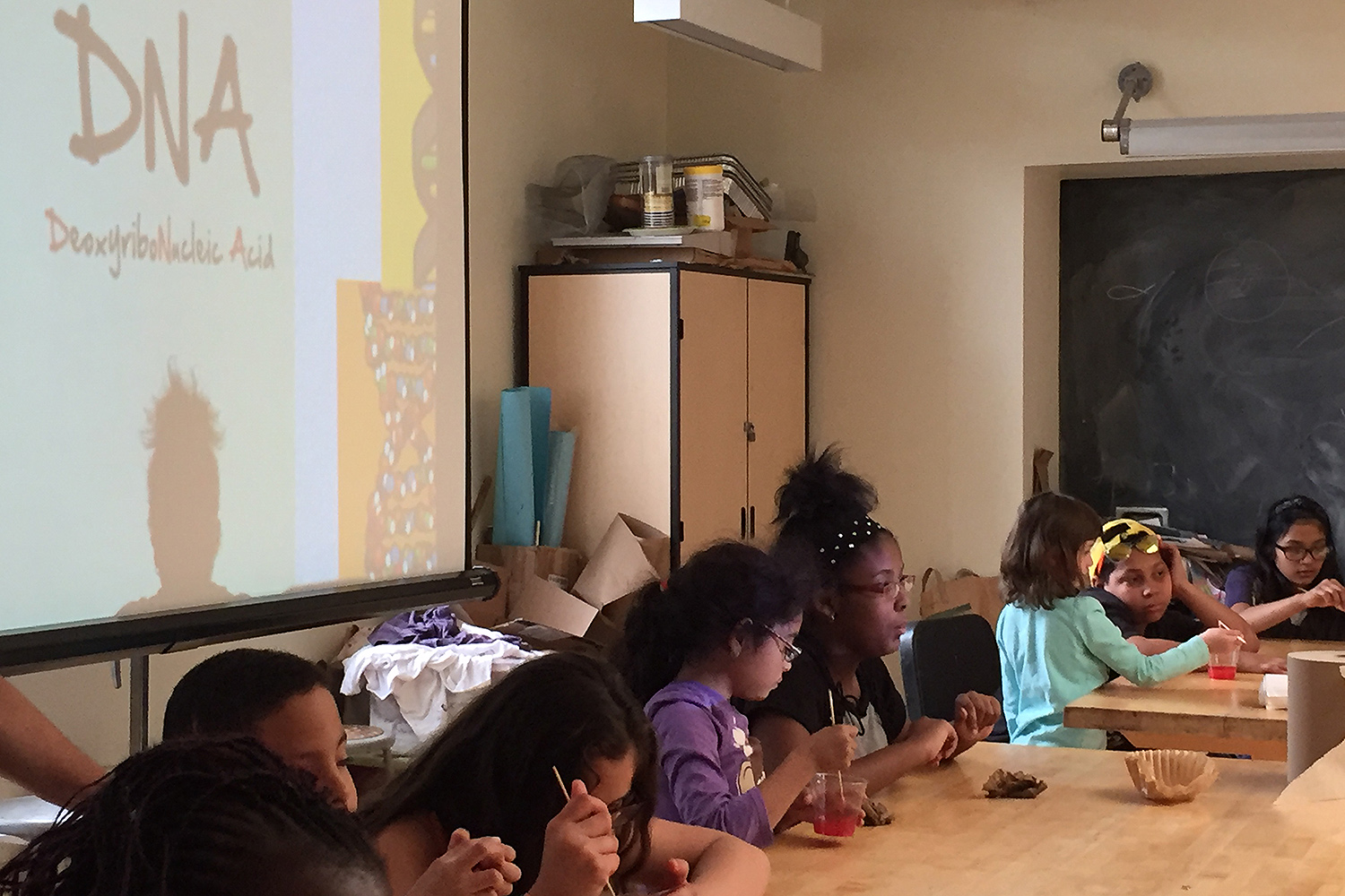 The National Institutes of Health invited Green Street Teaching and Learning Center to participate in the national celebration. Green Street was the only site in the State of Connecticut to lead a DNA workshop.