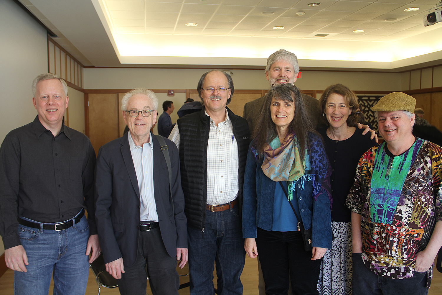 Mark Slobin, second from left, was celebrated by colleagues, friends and family during a day long conference and concert April 16.