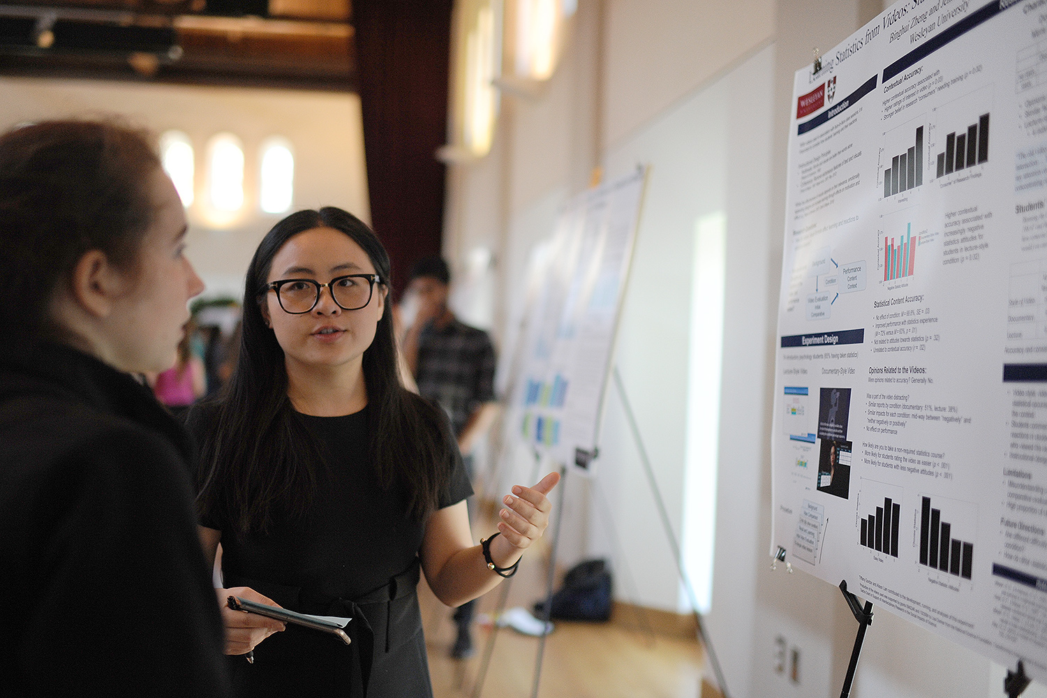 Psychology Poster Session, April 28, 2016. (Photo by Olivia Drake MALS '08)