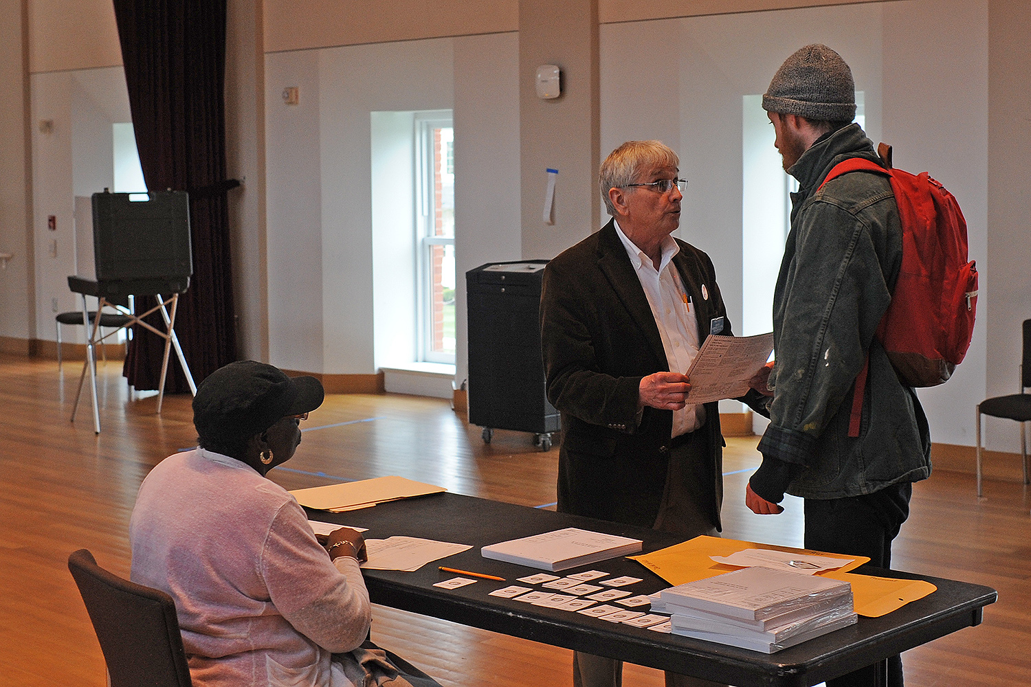 Voting for the Primary Election in Beckham Hall, April 26, 2016.