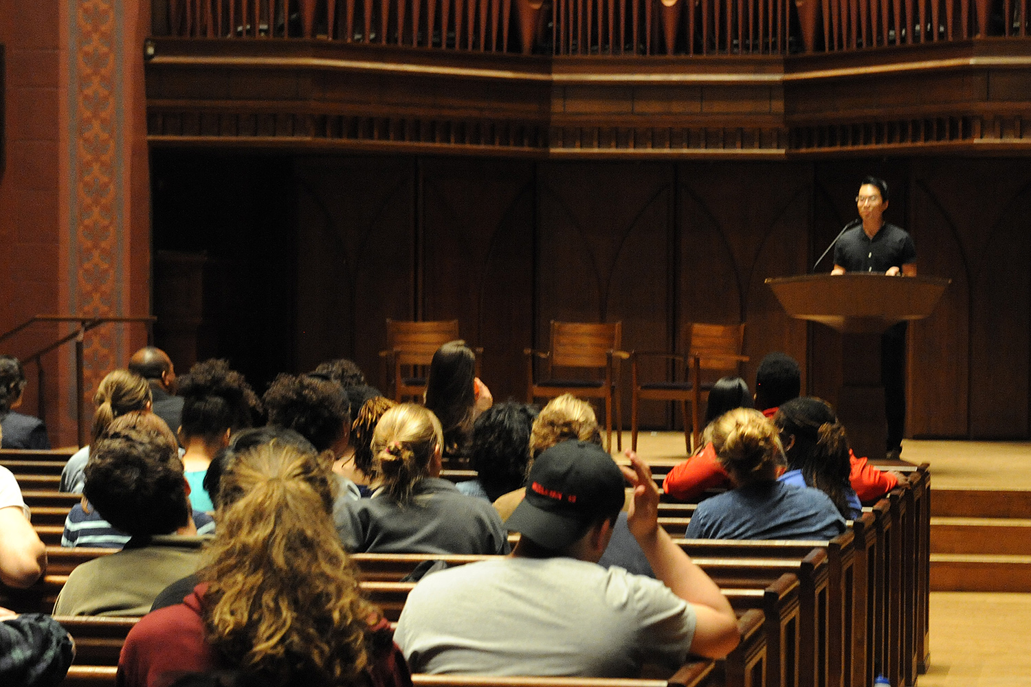 Several Wesleyan students, faculty and staff attended the talks. (Photos by Rebecca Goldfarb Terry '19)
