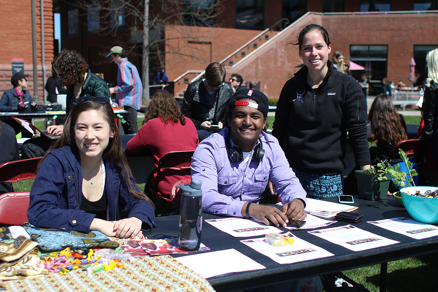 During the Student Activities Fair on April 15, students spoke to Class of 2020 admits about various clubs and activities at Wesleyan.