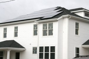 Solar panels were installed on a student residence on Fountain Avenue in October 2008