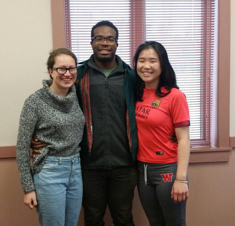 Juliana Castro '19, Michael Edwards '16, and Melissa Leung '16 are among the students who have been working with the city's Water and Sewer Department to create a performance that will debut at the Feet to the Fire: Riverfront Encounter on May 9. (Photo courtesy of The Middletown Press).