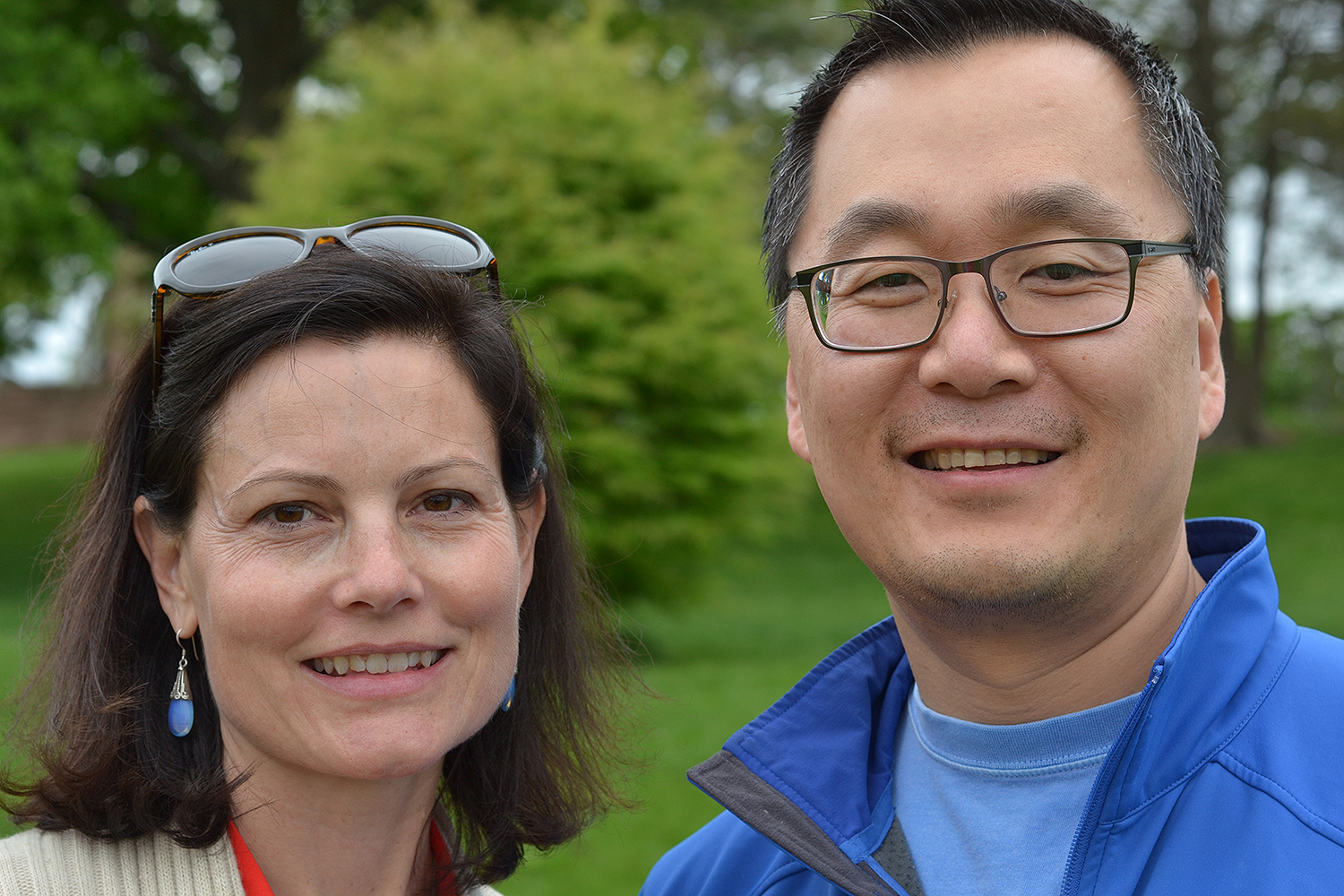 Shelley Trott '91 (Oakland, CA) and Jung Cho '91 (Pittsburgh, Penn.)