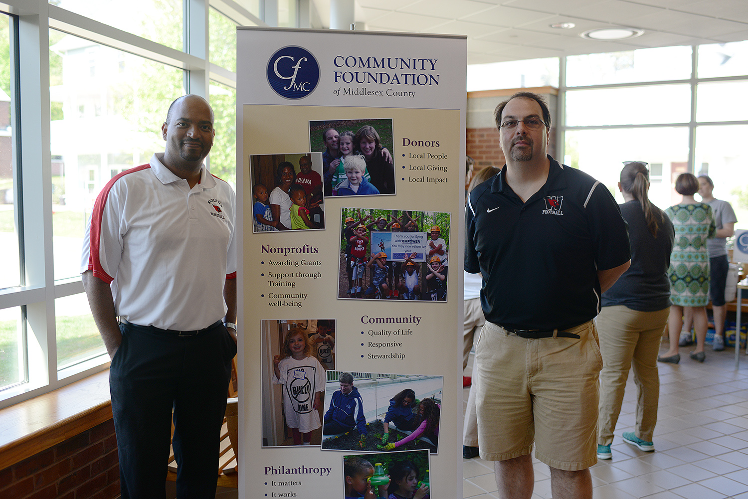 Frantz Williams (left) and Jeff McDonald hosted the event with CFMC in Freeman Athletic Center