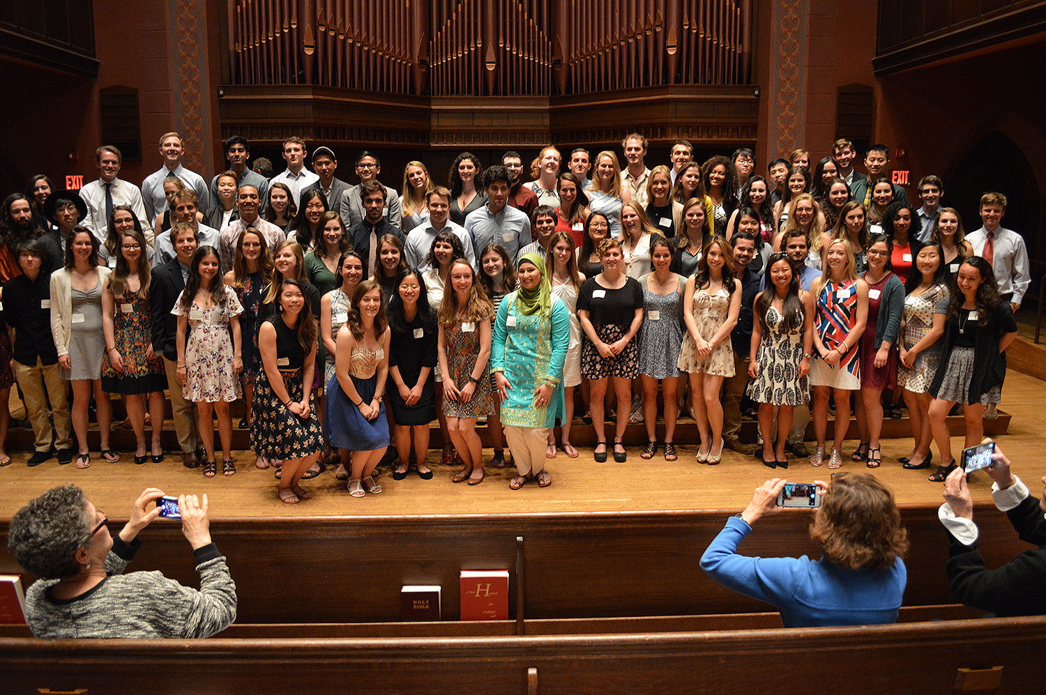 Members of the Class of 2016 were inducted into Phi Beta Kappa, a national academic honor society, in the Memorial Chapel on May 21. Jim Citrin P'12 P'14 was the featured speaker for the ceremony. (Photo by Tom Dzimian)