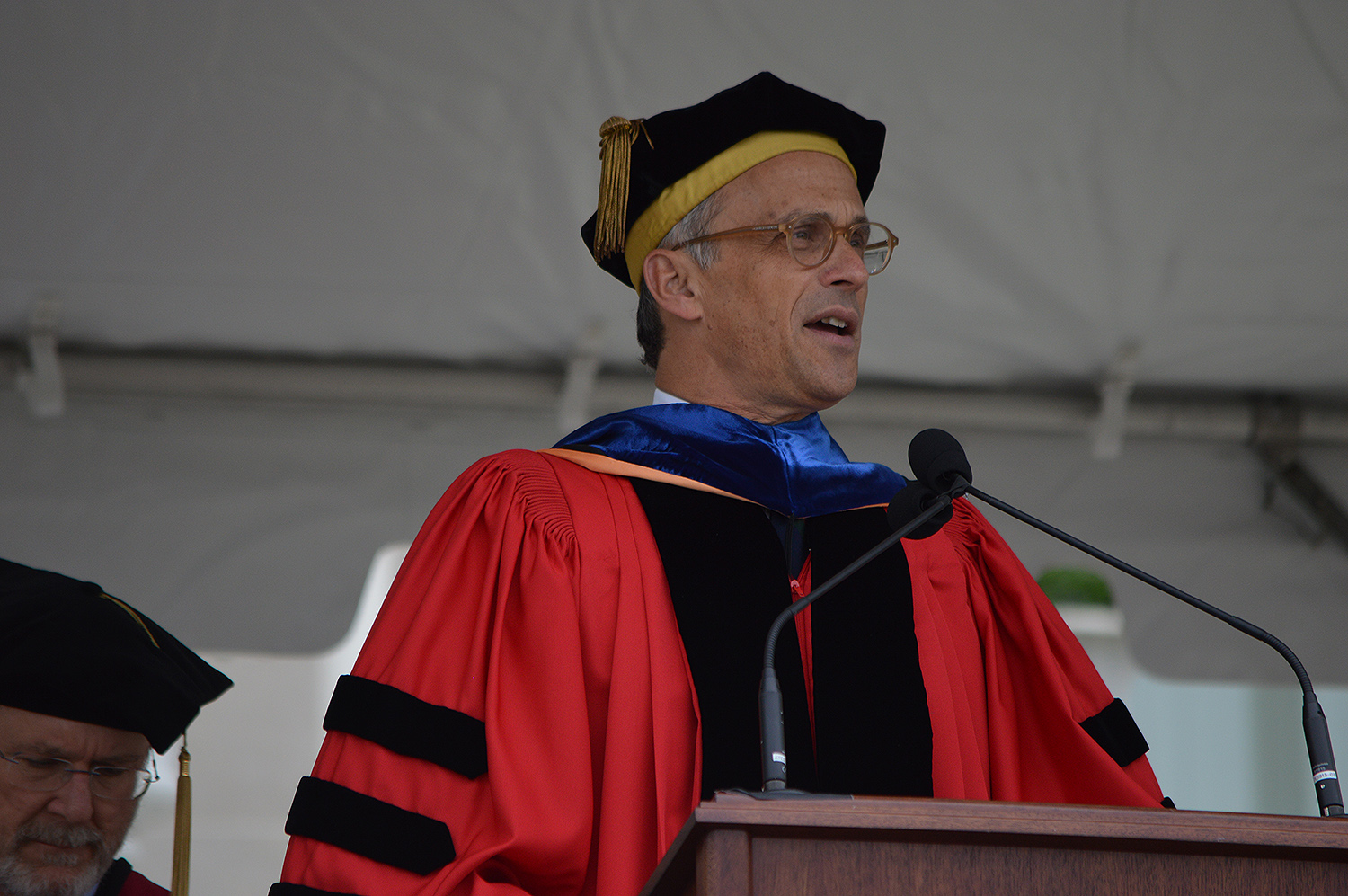 Wesleyan President Michael Roth. (Photo by Tom Dzimian)
