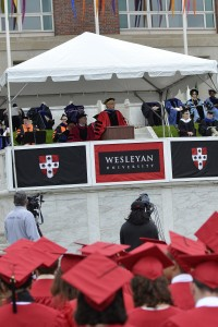 President Roth delivers his remarks. (Photo by John Van Vlack)