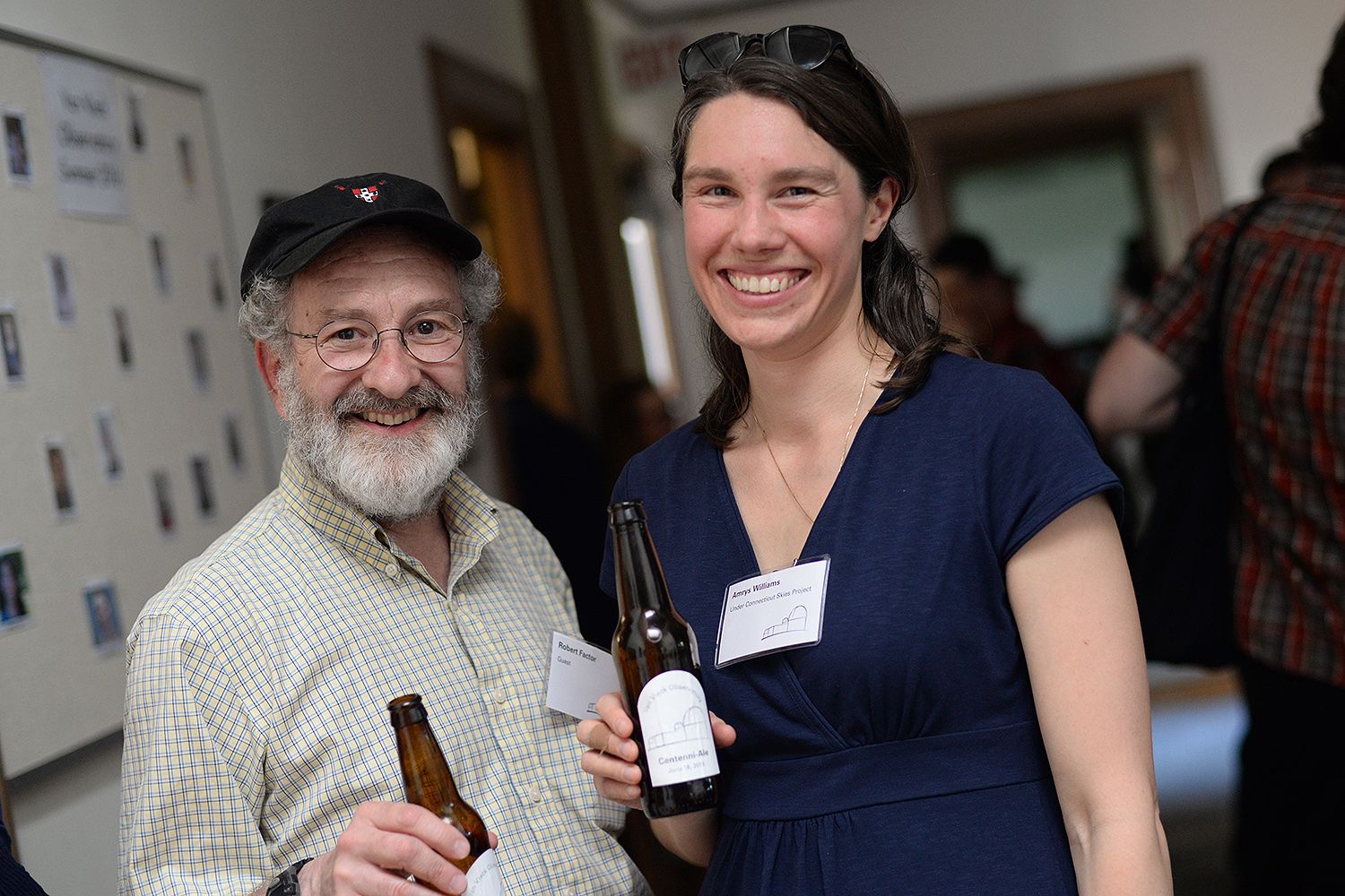 Guest Robert Factor and Amrys Williams, visiting assistant professor of history, enjoyed the Centenni-Ale.