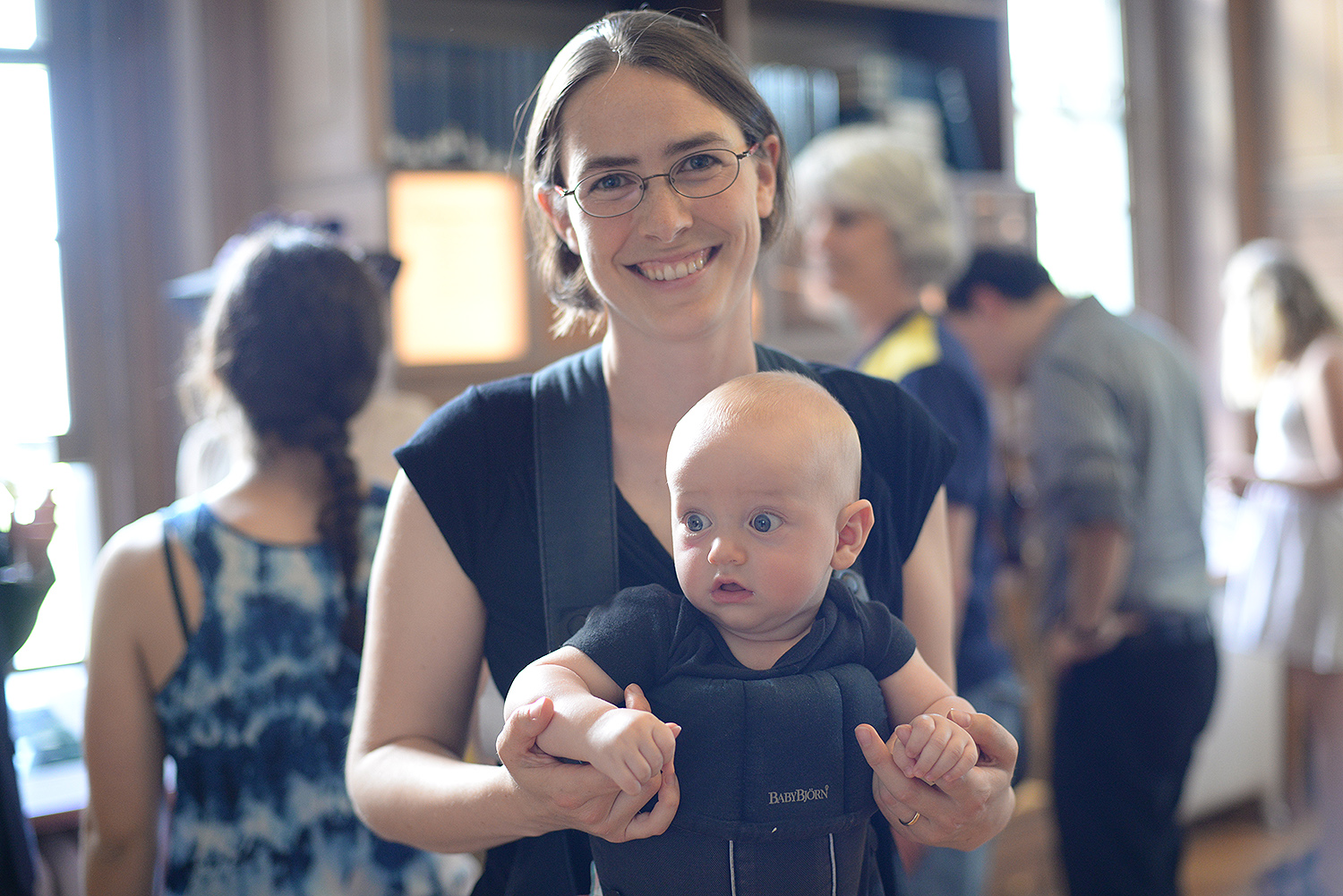 Meredith Hughes, assistant professor of astronomy, and her four-month-old son, Soren, attended the Van Vleck Observatory Centennial celebration.