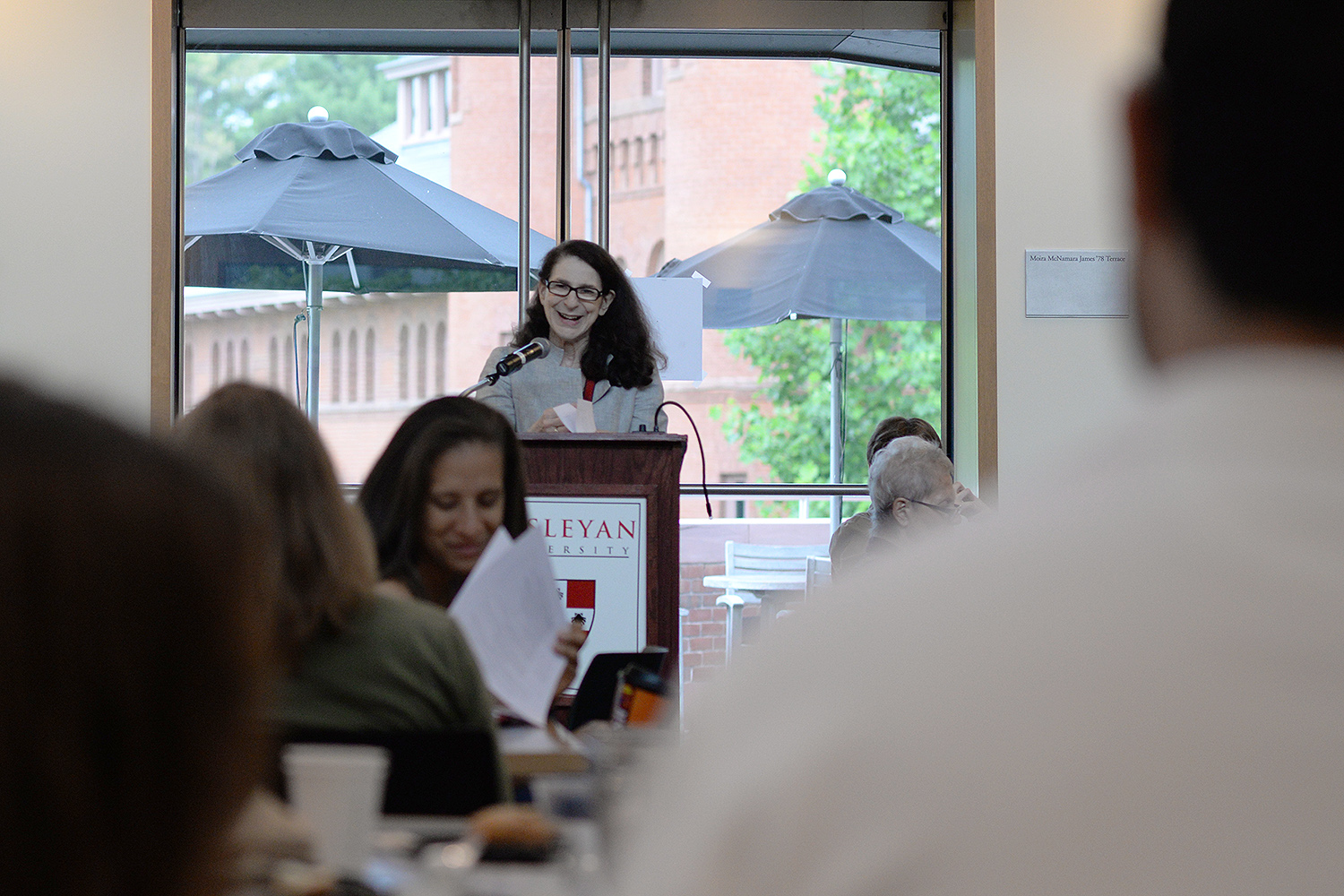 Anne Greene, director of the Wesleyan Writers Conference, welcomed the participants to the conference on June 16.