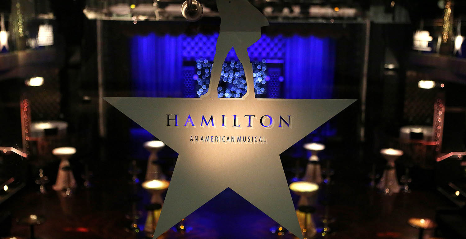 "More than 1,300 members of the Wesleyan community attended the ""Hamilton Event on Broadway"" on Oct. 2, 2015."