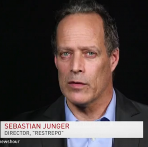Journalist Sebastian Junger '84 spoke on PBS NewsHour on 'American Heroes.'