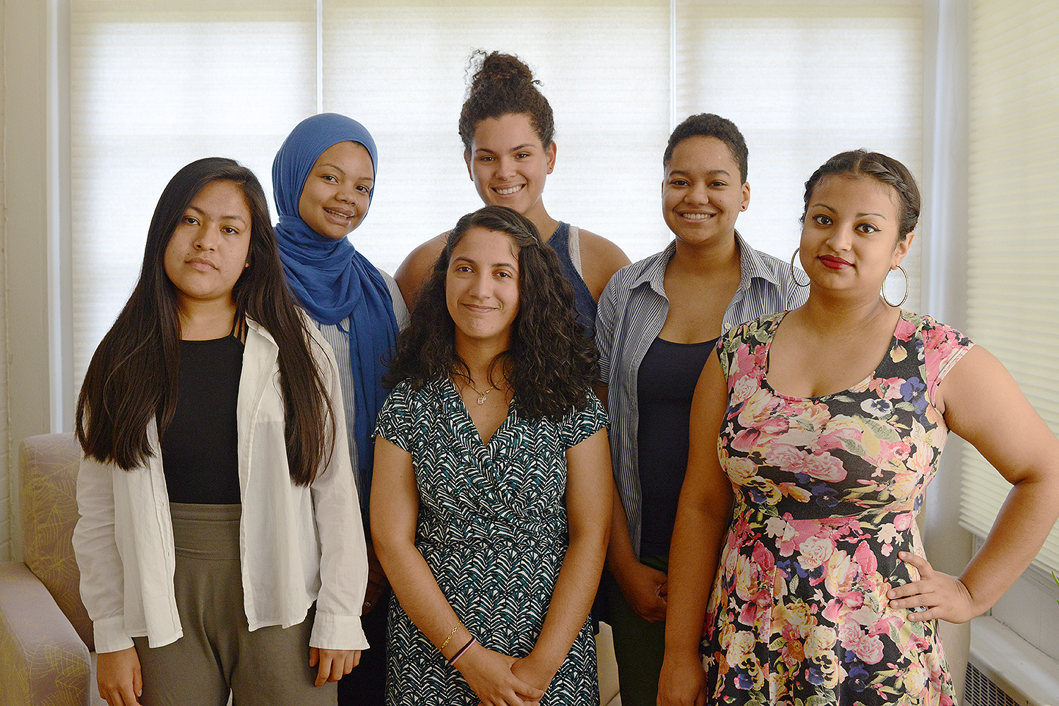 Pictured, from left, are Delia Tapia '18, Alicia Strong '18, Aura Ochoa '17, Iryelis Lopez '17 (back row), Paige Hutton '18 and Aleyda Robles '18.