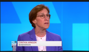Cynthia Arnson '76, director of the Latin American Program at the Woodrow Wilson International Center for Scholars, speaks on PBS NewsHour about the historic peace agreement with Colombia's FARC rebels.