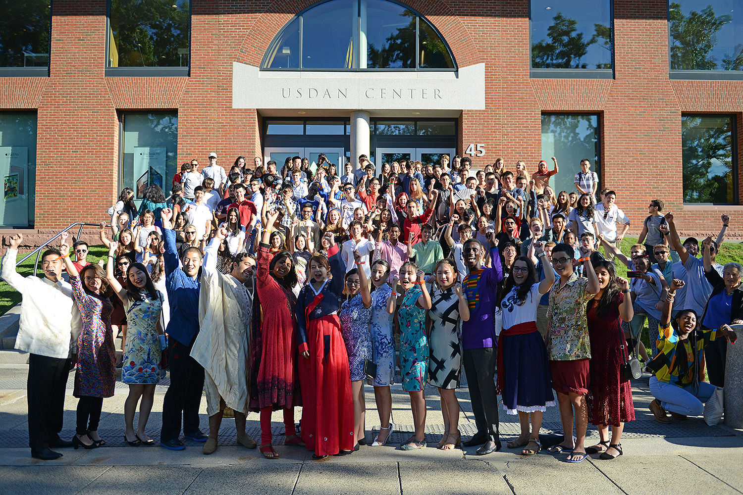 International students at Wesleyan, Aug. 30, 2016.