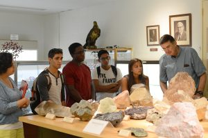 WesMaSS scholars toured the Joe Webb Peoples Museum in Exley Science Center.