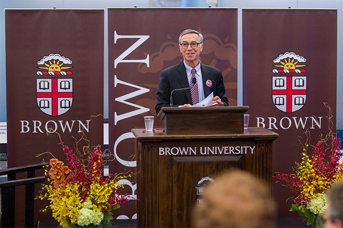 Brown University Provost Richard Locke received one of five inaugural Progress Medals from the Society for Progress. (Nick Dentamaro/Brown University)