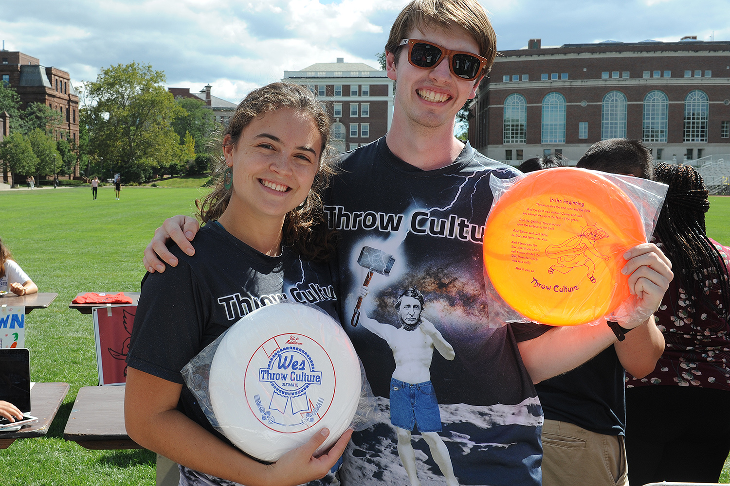 Throw Culture is Wesleyan's mixed ultimate frisbee team. The group has regular practices to prepare for tournaments throughout the year. The team is an open space for everyone to come play and learn ultimate.