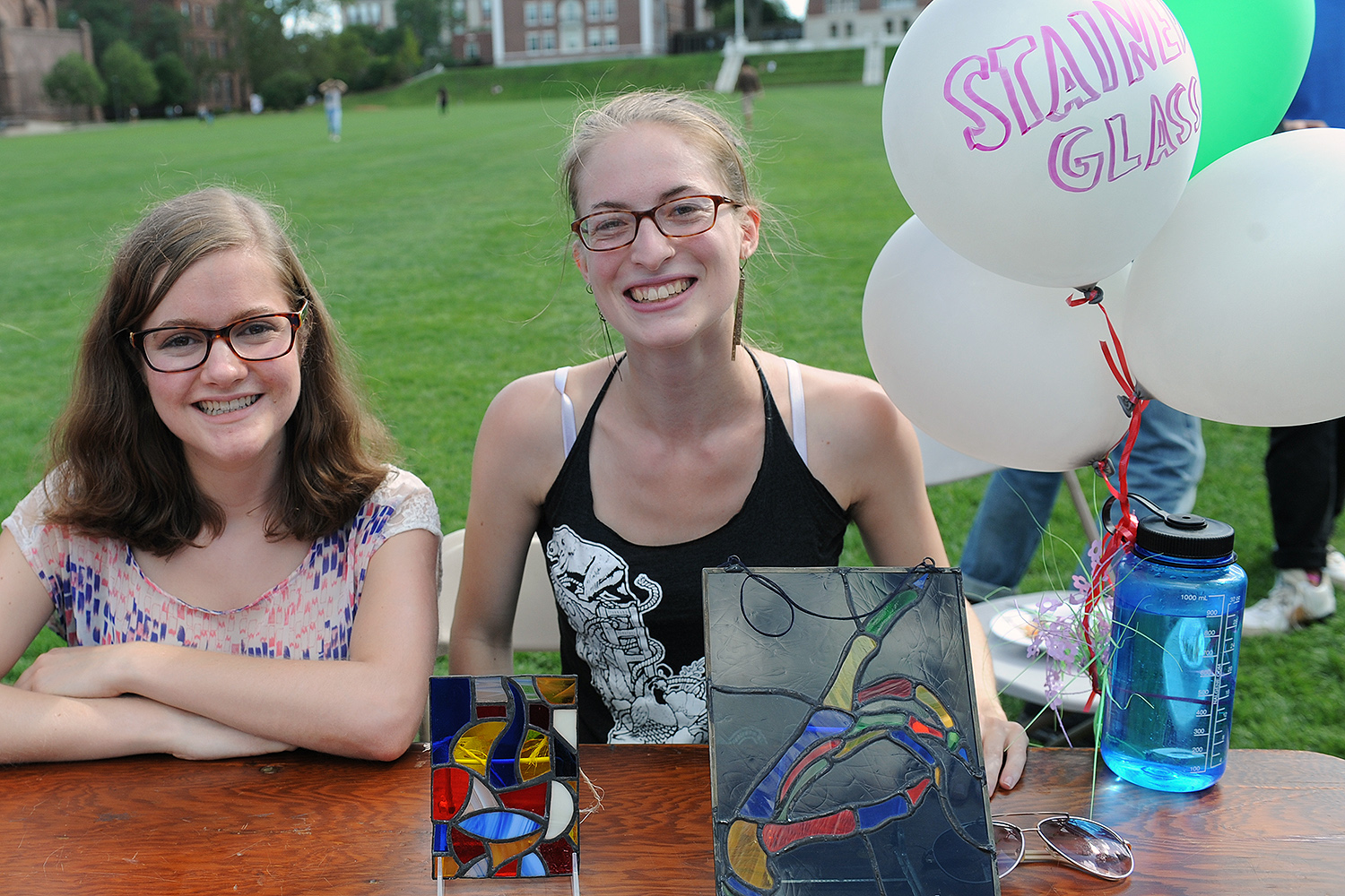 Wesleyan's Stained Glass Club teaches students how to cut and solder stained glass.