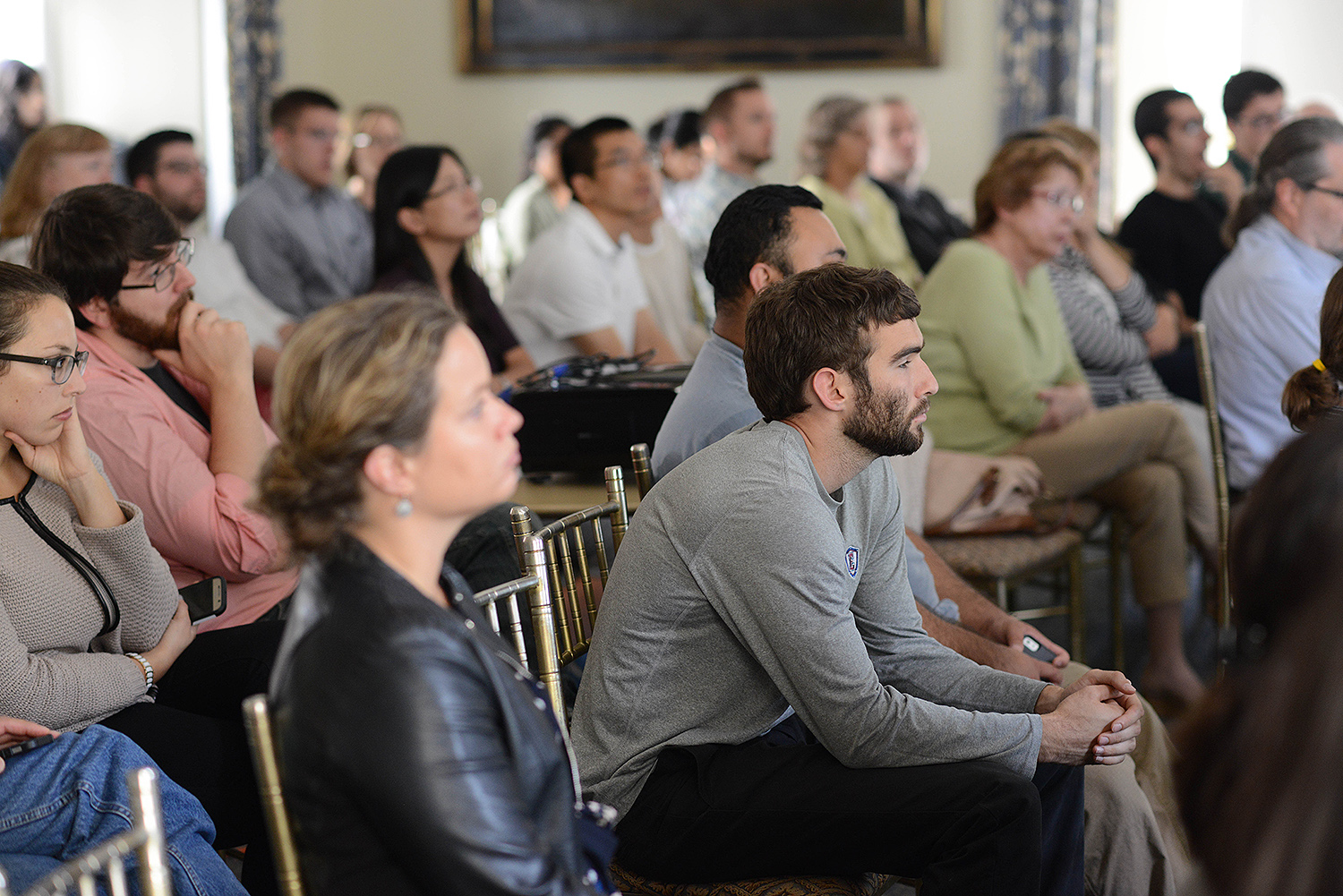 Biophysics Retreat at Wadsworth Mansion Sept 29, 2016. (Photo by Gabi Hurlock)