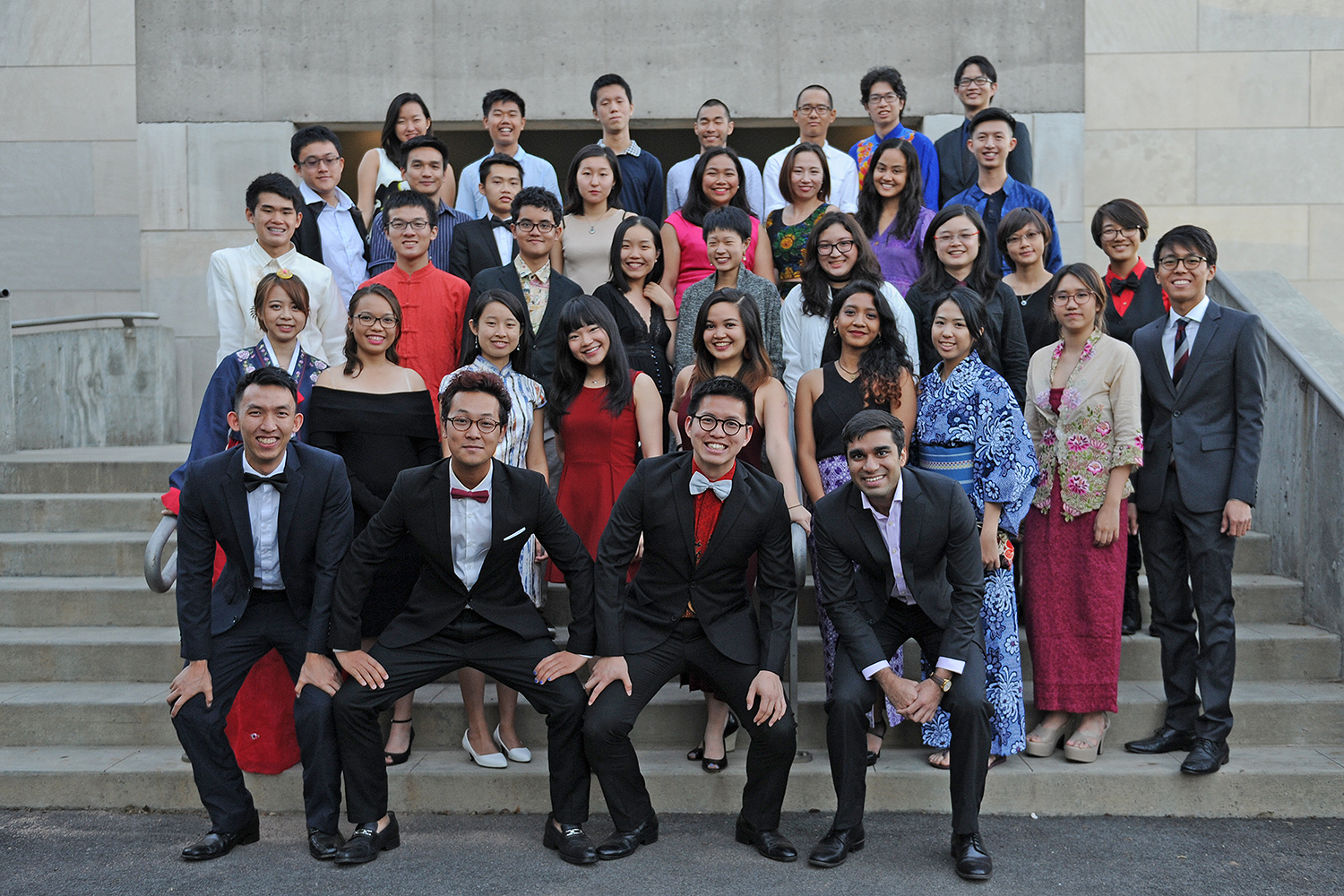 Wesleyann's Freeman Asian Scholars gathered for a group photo on Oct. 7.