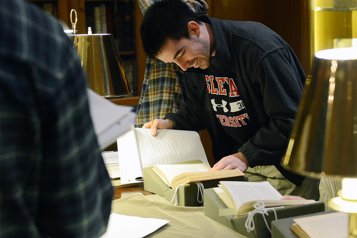 """Students found value in utilizing and learning from these primary sources,"" Cho said. (Photos by Olivia Drake)"