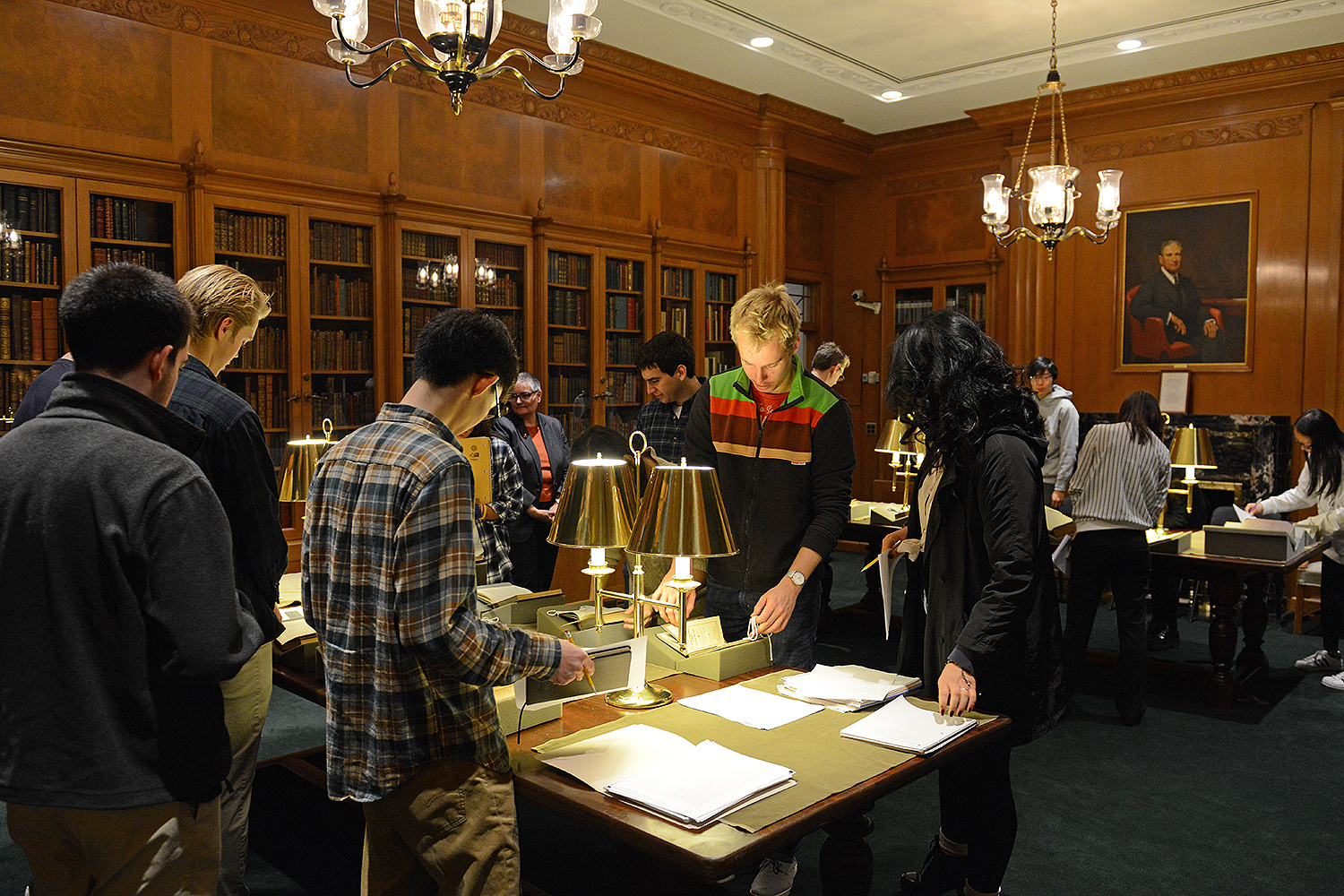 "The visit to Special Collections and Archives provided students with a multifaceted view on missionary activities, connected to Wesleyan's history and the content of the course. ""Students found value in utilizing and learning from these primary sources,"" Cho said. (Photos by Olivia Drake)"