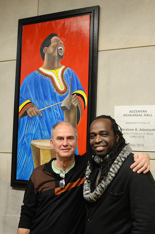 The artist Pierre Sylvain is joined by Chair of the Music Department,Director of the Electronic Music and Recording Studios, and Professor of Music Ronald Kuivila.