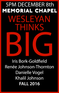 Wesleyan Thinks Big