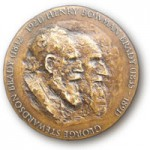 The Brady Medal is cast in bronze from original sculptures commissioned by The Micropalaeontological Society in 2007.