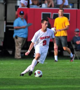 Men's soccer player Adam Cowie-Haskell '18 also was named NESCAC All-Academic. (Photo by Peter Stein '84)