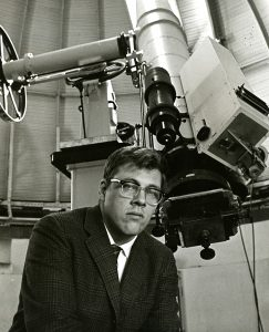Arthur Upgren in 1968. (Photo courtesy of Special Collections & Archives)