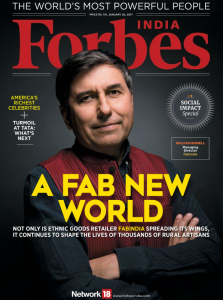 William Bissell is on the cover of Forbes Magazine in India.