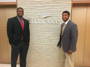 Jordan Stone '17 and Jaylen Berry '18 participated in the Athletic Department's alumni mentoring program.