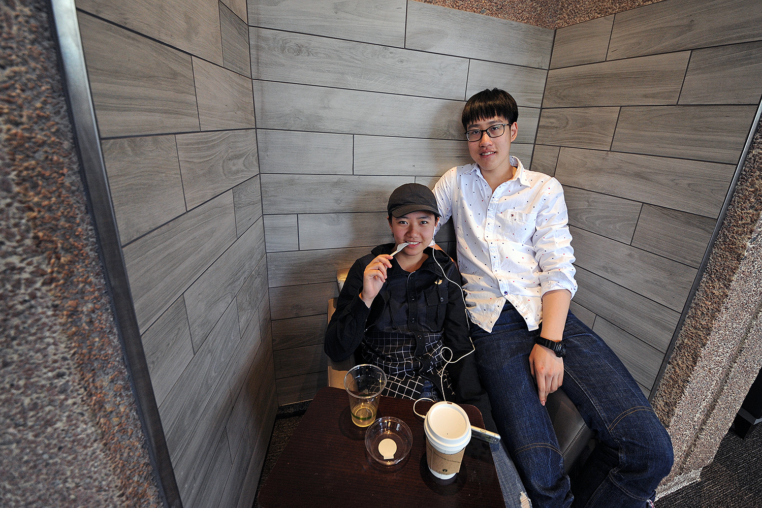 "Ari Liu '20 and Yuan Wang '20 spent their Winter Recess in southern China, but were eager to return to campus. ""It's a totally different world here,"" Ari said, while sipping a coffee at Pi Cafe. ""I missed my friends, professors, and the music studios where I can practice the piano. I didn't miss the American food that much, but I did miss the burritos at Summerfields. We can't get those in China."""