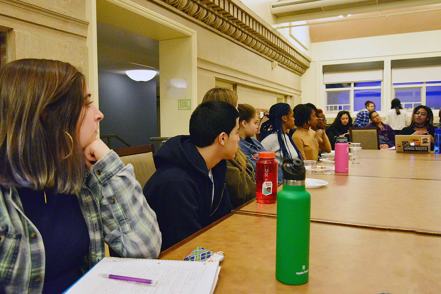 "Students gathered in Allbritton on Feb. 21 for an evening discussion on ""Black Radical Protest."""