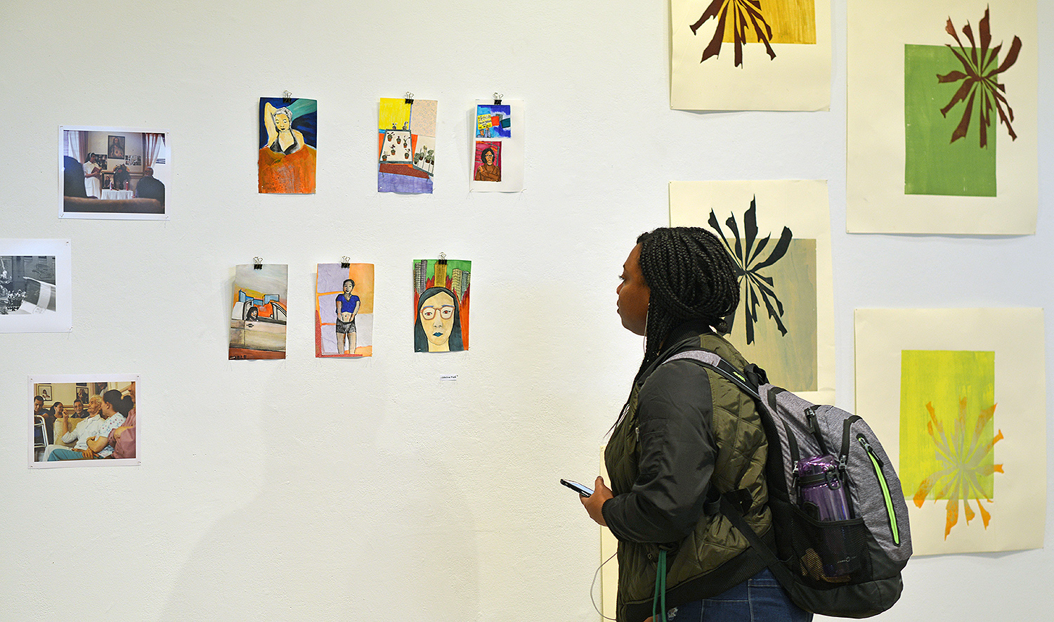 On Feb. 23, students of color presented their visual work at the Be the Art showcase. The exhibit is housed in Zilkha Gallery.