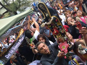 The production crew of Believer joined Reza Aslan in Mexico for ceremonies celebrating Santa Muerte. (Photo © Ben Selkow)